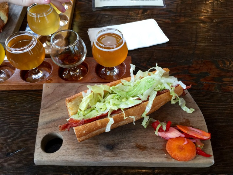Commons Brewery sandwich Portland Oregon