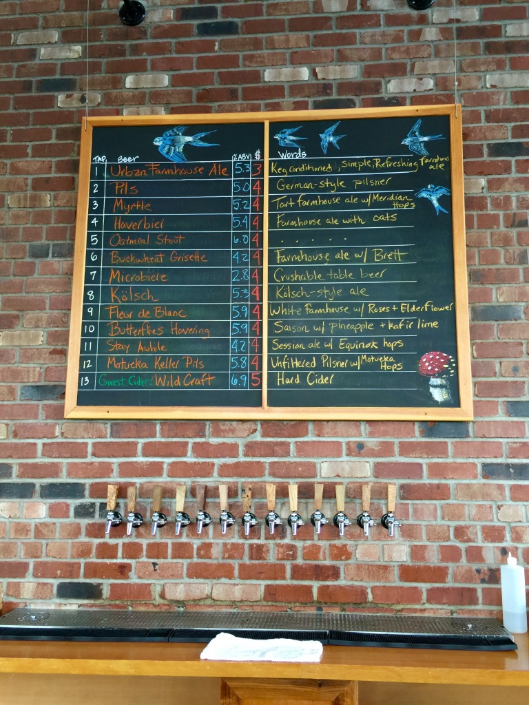 Commons Brewery tap menu Portland Oregon