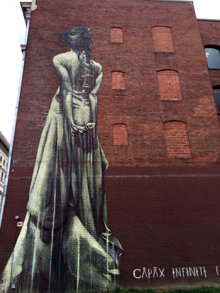 Mural downtown Portland Oregon girl
