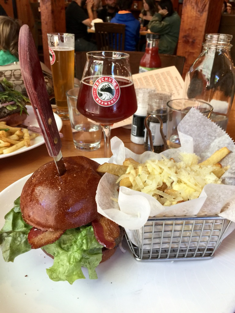 Deschutes Brewery lunch Portland Oregon