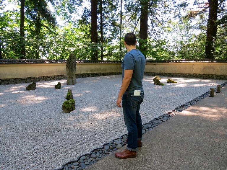 Portland Japanese Garden rock garden Oregon