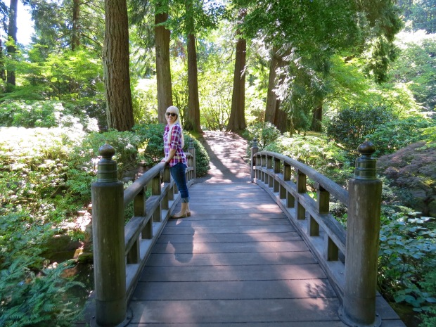 Portland Japanese Garden bridge Oregon
