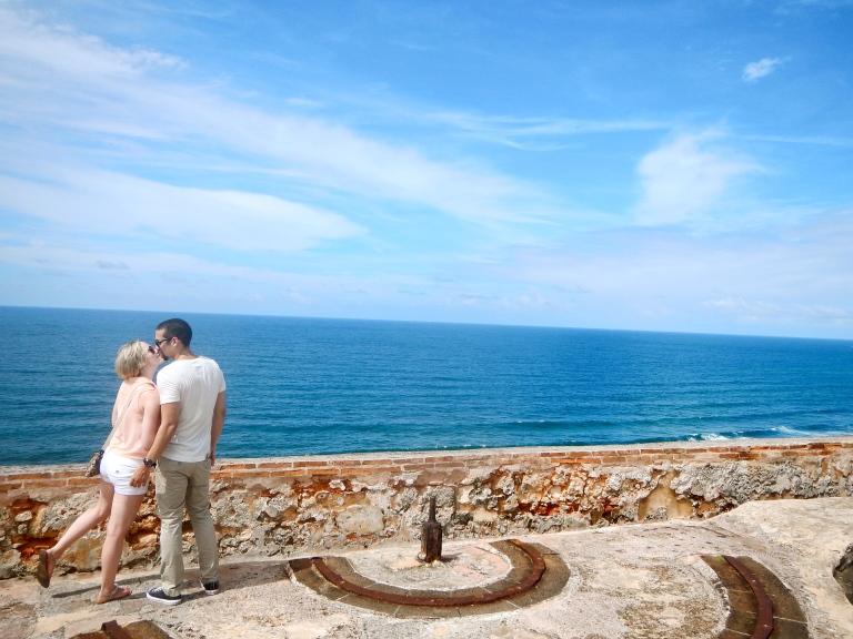 kissing El Morro Puerto Rico