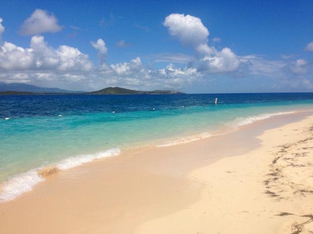 Beach on Icacos island Puerto Rico