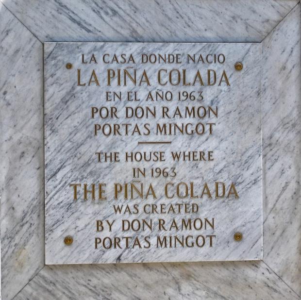 Barrachina First Pina Colada San Juan Puerto Rico