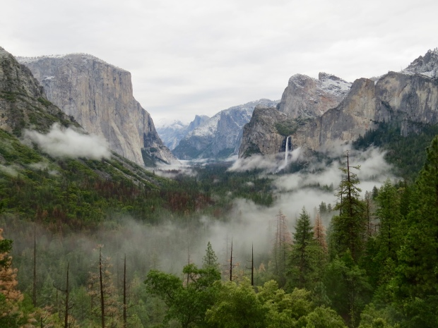 Tunnel View with low clouds