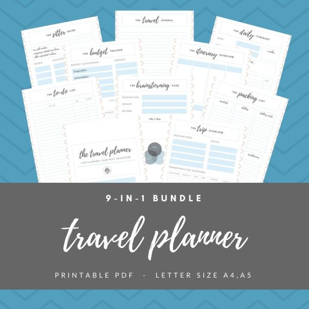 Etsy Listing Blank Travel Planner 1